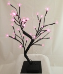 40cm Battery Operated Light up Cherry Blossom Pink Tree